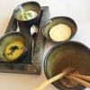 Butter, Olivenöl, Schmand