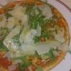 kleine Pizza Rucola und Parmaschinken ohne Parmaschinken!