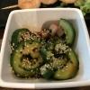 Gurkensalat mit Sesam, aber nicht in Form von Öl