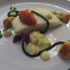 weißer Heilbutt / Topinambur / Tomate / Estragon
