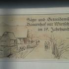 Foto zu Landgasthof  Buschmühle: Wandrelief am Landgasthof Buschmühle