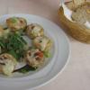 Champignons gefüllt mit Hackfleisch und mit Käse überbacken