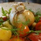 Foto zu Canova in der Kunsthalle Bremen: Burrata mit dreierlei Tomaten