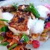 Krosser Zander, Frühlingsgemüse, fermentierter Buchweizen, Fenchelschaum