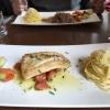 Rotbarschfilet mit Linguine und Gemüse auf Zitronen-Buttergemüse