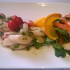 Spargel-Erdbeersalat mit Crevettes rosés