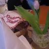 Tischdeko mit Blume
