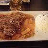 Knusprige Entenbrust mit Gemüse, hausgemachter Orangen-Süßsauer-Soße und Reis - für 8,90 Euro