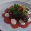 Carpaccio mit Tomaten Avocado Salat