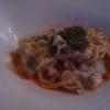 Laacher Felchen mit Spaghetti Carbonara