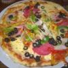 Pizza Diavolo + Oliven