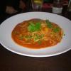 Muschelfleisch mit Linguine in pikanter Tomatensoße und Gemüse für 13,90 €