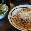 große Portion Spaghetti Bolognese