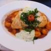 mariniertes Hähnchenbrustfilet auf Tomaten-Paprikagnocchi mit Creme vom frischen Rucola für 14,10 €