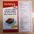 Foto zu Pizza & Kebaphaus Antalya: Speisekarte