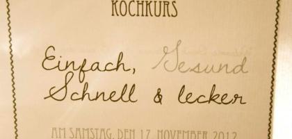 Fotoalbum: Kochkurs