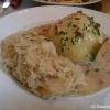 1 Gefillder mit Specksoße und Sauerkraut - soooo lecker!