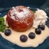 Dessert: Bratampfel und Vanillesauce