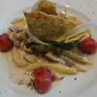 Foto zu Restaurant Lauterecker Toskana: Kräuterpfannkuchen mit Spargel