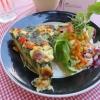 Spinat-Feta Tortilla mit Salat