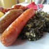 Pinkel und Kochwurst auf Grünkohl