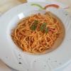 Spaghetti Matriciana mit Schinken in pikanter Tomatensoße für 9,50 €