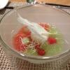 1. Gang - Joghurt Aloe Vere Splashmit Gurke und Wassermelone