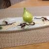 Dessert - Birne - belgische Schokolade - Fenchel
