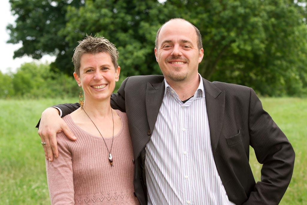 Chefin Martina und Chef Philipp