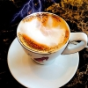 Der Cappuccino lecker