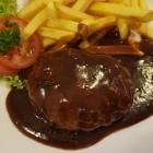 Foto zu Restaurant Café zum Schlößje: Hackbraten mit Pommes,