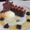 Dessert mit Nuss