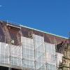 Dach vom Rathaus wird neu eingedeckt.