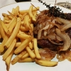 Entrecôte, Pommes Frites, Zwiebeln