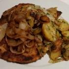 Foto zu Hosser's Hotel Restaurant: Zwiebelschnitzel mit Bratkartoffeln