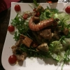 Salatteller mit tweerlei Fisch