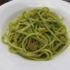 Linguine con Pesto di Rucola e Gamberetti