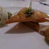 Gruß aus de Küche, Hummer Wan Tan, Spargelsalat, Tofu
