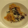 hausgemachte Kürbisravioli mit gebratenem Radicchio