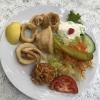 Baby-Calamaris mit Reis 9,50 €
