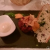 Steaktatar mit Trüffelmayo und Gemüsechips für 14,50 €