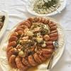Meeresfrüchtesalat mit Rotschwanzgarnelen /Gefüllte Calamari