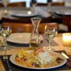 Foto zu Café Restaurant Schmuggelbud: Tagliatelle mit Garnelen & Shrimps in Cognac flambiert