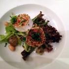 Foto zu Restaurant Fachwerk: Mit braunem Rohrzucker karamellisierter Ziegenkäse