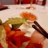 Crême brulée, Lavendeleis, Ragout vom Weinbergpfirsich