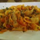 Foto zu Prezzemolo: Pappardelle mit Tomatensauce, Paprika und Zwiebeln