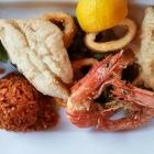 Foto zu el Greco: 19.03.19: Fischplatte - Schollenfilet, Calamares, Scampi, Reis