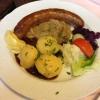 Thüringer Rostbratwurst mit Kartoffeln und Sauerkraut (5,90€