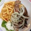 Akademie-Platte für 1 Person (12,90€) mit Gyros, Suflaki, Bifteki, Tsaziki, Pommes und Salat.
