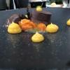 Schokoladentarte / Passionsfrucht / Kumquat
